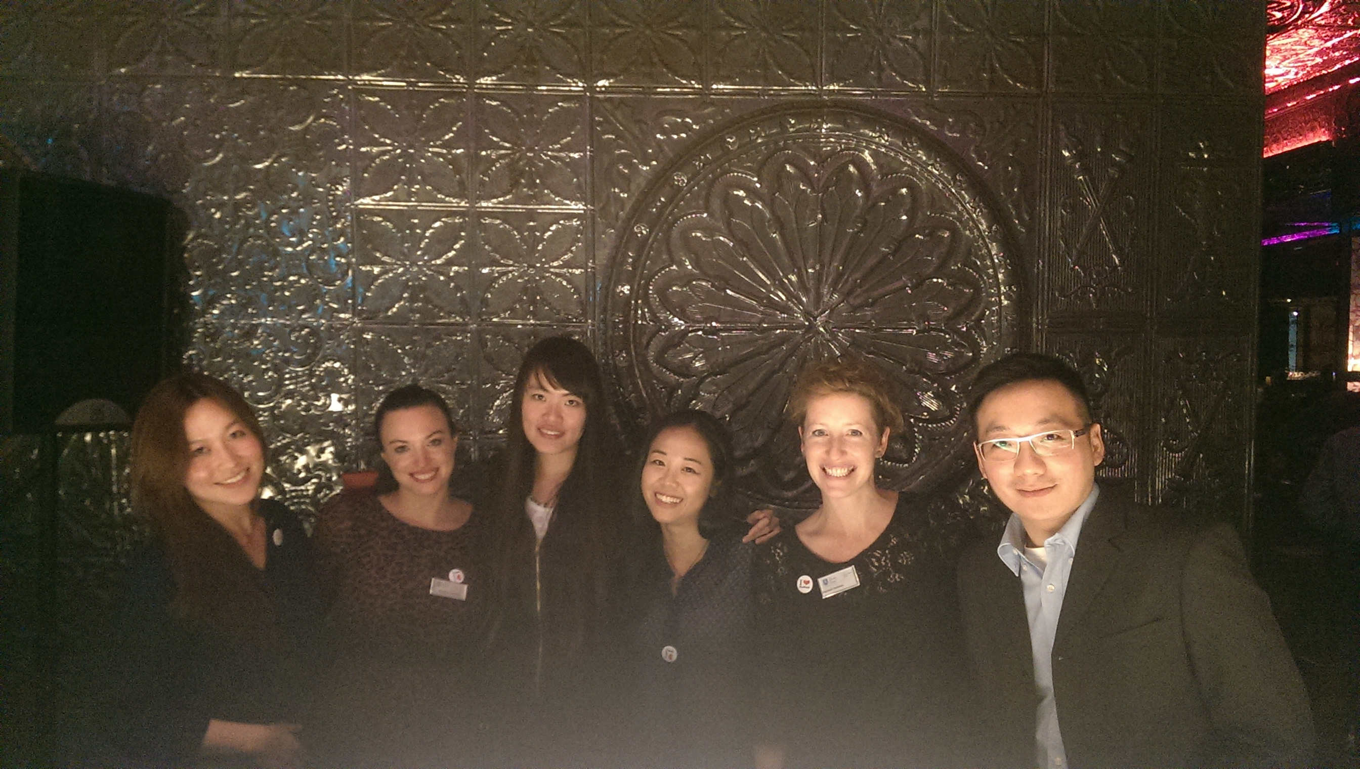 Hannah and Maddie with SUMS alumni in Taipei in October 2014
